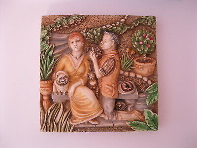 Harmony Kingdom Picturesque Byron's Secret Garden Love's Labours Tile PXGD3