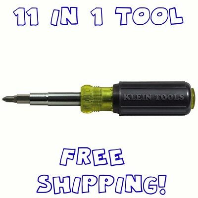 Screwdriver and Nut Driver 11-in-1 Multi Tool, Industrial Strength Bits, Klein