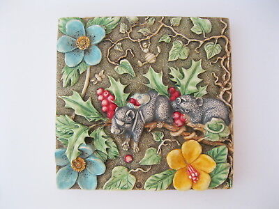 Harmony Kingdom Picturesque Byron's Secret Garden Two Blind Mice Tile PXGE1