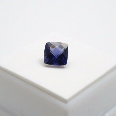 Iolite - 2.0ct - 8x8mm Checkerboard Top Cut Cushion- India Iolite Loose Gemstone