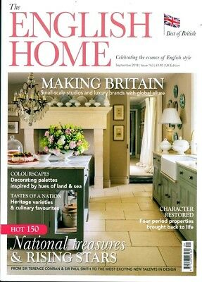 The English Home Magazine September 2018 ~ New ~