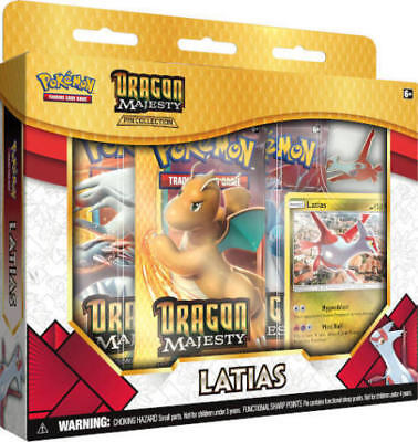 Pokemon Sun & Moon Dragon Majesty LATIAS - Pin Collection Box BRAND NEW SEALED