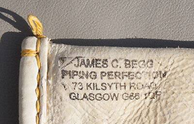JAMES BEGG SHEEPSKIN BAGPIPE PIPE BAG. Tied in but NEVER PLAYED!