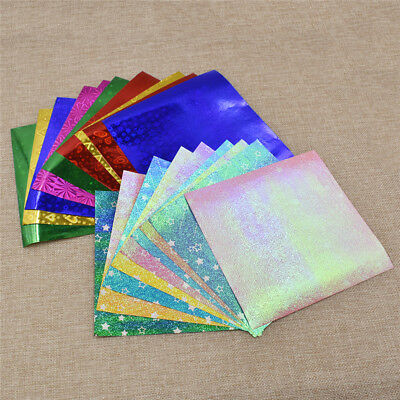 15x15cm Single Side Laser Origami Folding Paper Hand Craft Star Pattern Decor