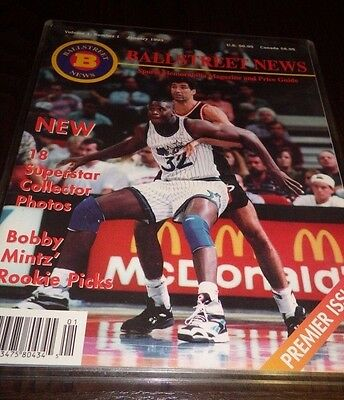 Ballstreet Noticias Revista Jan 1993 Vol 1 #1 Premier 18 Uncut Cromos Jordan