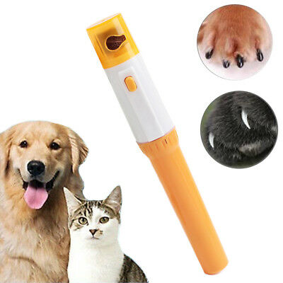 Pet Nail Clipper Painless Dogs Cats Paw Nail Trimmer Cut Electric Grinding UK