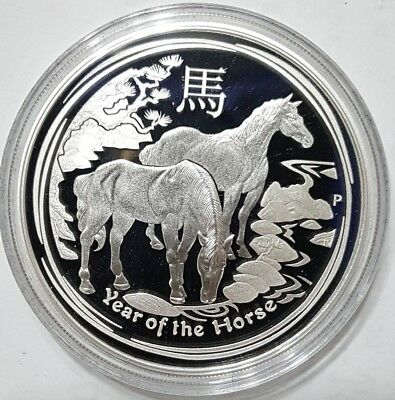 2014 1 Oz PROOF Silver YEAR OF THE HORSE - Australian Lunar Series II Coin