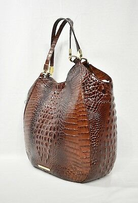 7a1c7c23c798 NWT Brahmin Thelma Tote   Shoulder Bag Tote in Pecan Melbourne Embossed  Leather
