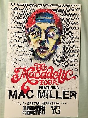 Mac Miller 11x17 The Macadelic Tour Music Poster