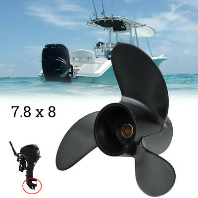 For Tohatsu Nissan Mercury 4-6HP 3R1W64516-0 Aluminum Outboard Propeller 7.8X8