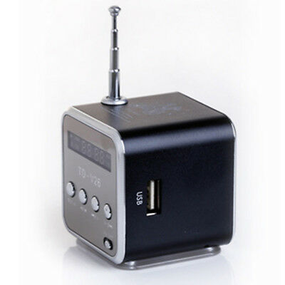 Portable MP3 Player Amplifier Micro SD TF Card USB Disk Speaker With FM Radio AU