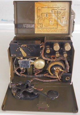 Vintage WW II US army Signal Corps portable telegraph set TG-5-B with hard case