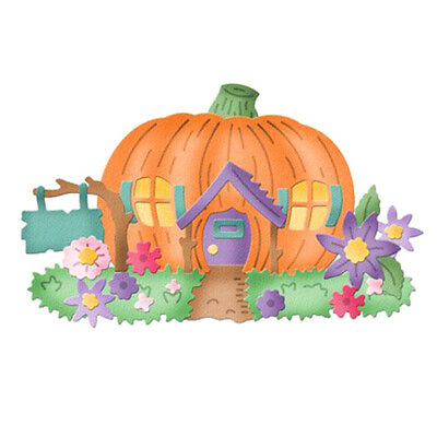 Metal Cutting Dies pumpkin house Paper Stencil Card Craft Album Scrapbook Deco X