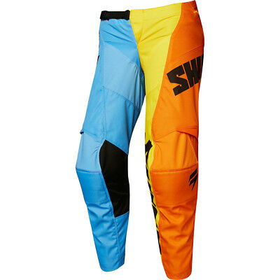 Shift NEW Mx 2018 WHIT3 Label Tarmac Blue Orange Kids Motocross Dirt Bike Pants