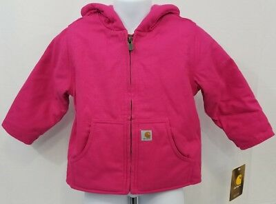 CARHARTT TODDLER FULL ZIP HOODIE LINED JACKET SIZE 6M,12M,18M,24M 2T,/&3T BROWN