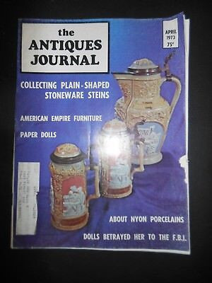 Antiques Journal Stoneware Steins Nyon Porcelains Paper Dolls American Empire