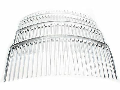 4 Pack 9cm Clear Plain Side Hair Combs Slides Grips Hair Accessories UK