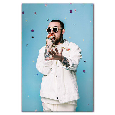 A004 Mac Miller Rapper Star Rap Music Singer 12x18 24x36/'/' Art Poster