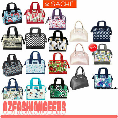 SACHI INSULATED LUNCH BAG Tote Storage Container Carry Strap 20 DESIGNS PI