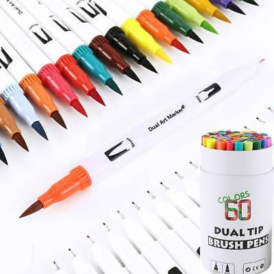 60pcs Fabricolor Colorful Calligraphy Marker Brush Pen Set Chinese Drawing Art