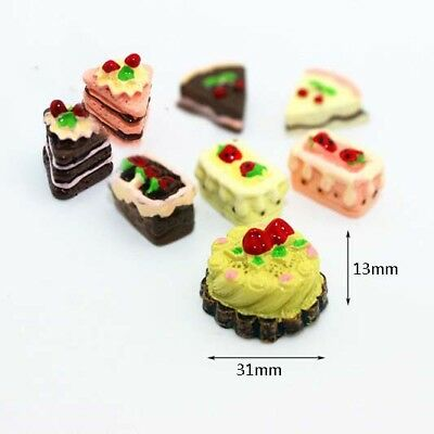 8pcs/Set Miniature Mini Cake Pastry 1/6 1/12 Scale Model Home Toy Accessories US