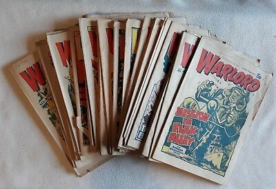 28 Issues Warlord 1974 - 75 ALL G - FN