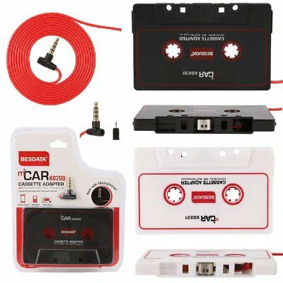 Car Tape Cassette 3.5mm AUX Audio Adapter Converter for iPhone iPod MP3 Stereo