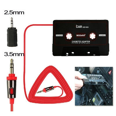 Car Audio Tape Cassette AUX Adapter Converter for Apple iPod iPhone MP3 Player