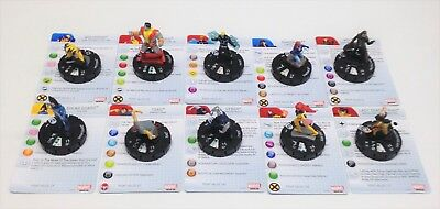 Heroclix Wolverine and the X-Men set COMPLETE lot of 10 Gravity Feed figures!