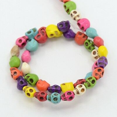 1-5 Strands (50-250 Beads) Howlite Dead Skull Beads Mixed Color 6x8mm(G140-12-A)