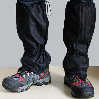 Waterproof Outdoor Climbing Hiking Snow Ski Shoe Leg Covers Boot Legging GaiteJB