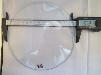 Replacement heavily bevelled Flat Clock Dial Glass 167.2mm dia.3.5mmThick
