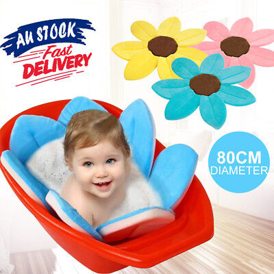 Soft Safety Blooming Bath Lotus Flower Baby Infant Bath Tub Sink Shower Mat