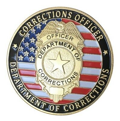 U.S. United States | Department of Corrections | Gold Plated Challenge Coin