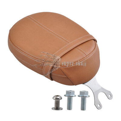 Motor Brown Leather Passenger Pillion Seat Fo Indian Scout 15-18 Scout Sixty 16+
