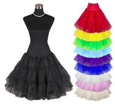 Retro Swing Petticoat Unterrock Rockabilly Pettiskirt Tutu Rockabilly Skirt 5