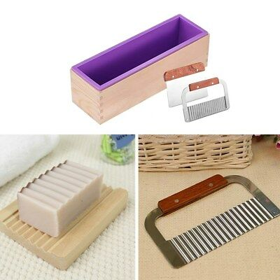 Rectangle Soap Mold Silicone Craft Making Homemade Cake Mould Kitchen Tool Kit