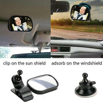 Baby Safety Car Mirror with Clip & Suction Cup Rearview Infant Toddler Mirror US