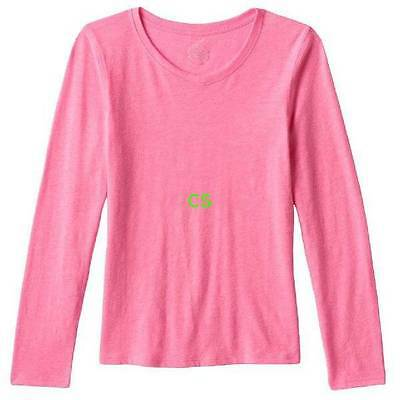 NWT $20-Girls Plus Size SO Pink V-neck Long Sleeve Top-size 20.5