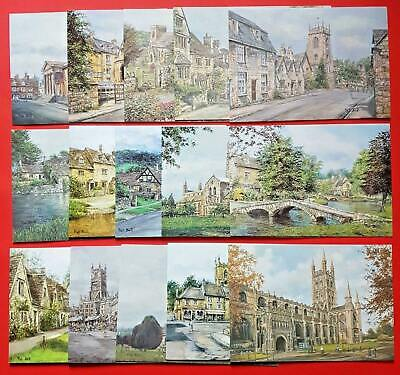 Beautiful Collection of 15 New Cotswolds Art Postcards by Pat Bell & Sue Firth