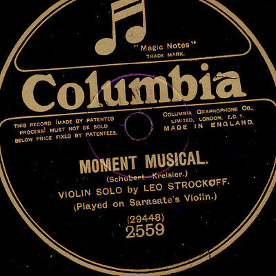 LEO STROCKOFF (played on Sarasate's Violin) - Violine - Moment Musical  S4123