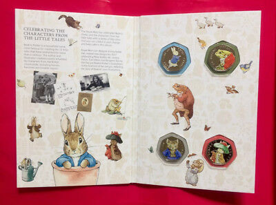 Beatrix potter 50p Coins 2017 uncirculated coloured set