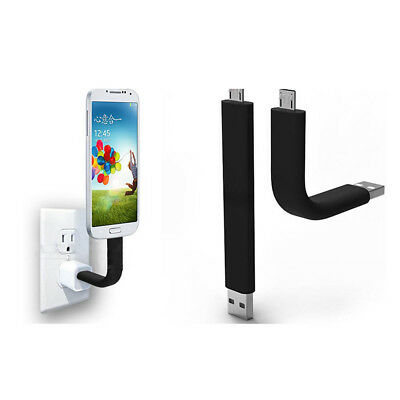 New Bendable Micro USB Sync Data Charger Cable Stand For Samsung S3 ES