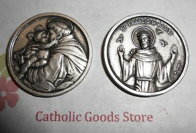 St. Saint Anthony / St Francis of Assisi Pocket Token Coin
