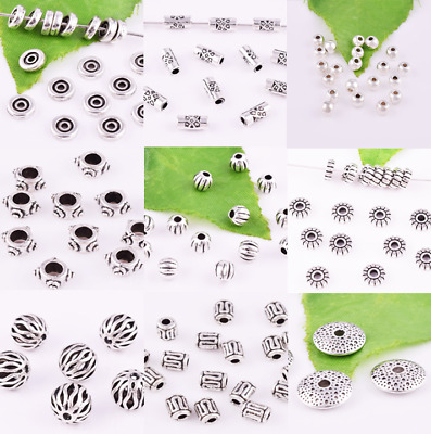 Lot Size Spacer Charm Beads Tibetan Silver Various Shape Accessories Wholesale