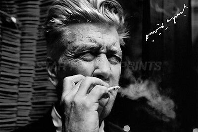 David Lynch Photo Print Poster Pre Signed - 12 X 8 Inch - Top Quality