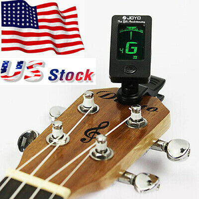 Acoustic Electric Guitar Violin Ukulele Tuner Chromatic Clip-On Digital US