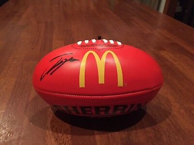 2018 AFL Premiers JACK HIGGINS Hand Signed Sherrin Footy - Richmond Tigers