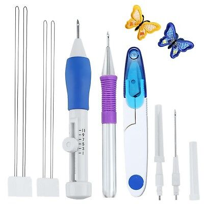 Magic Embroidery Pen Kit, Embroidery Pen Punch Needle Craft Tool for Embroide...