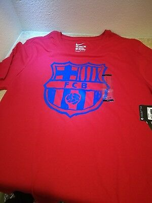 71b46adee FC BARCELONA NIKE T Shirt Size Xl New With Tags Lionel Messi 10 ...